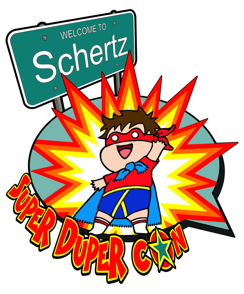 Schertz Super Duper Con is a pop culture event that takes place in the beautiful city of Schertz, Texas. Come celebrate comics, anime, toys, cosplay, and all things pop culture in a family friendly environment! This event is on 13-14 November 2021 at the Schertz Civic Center!