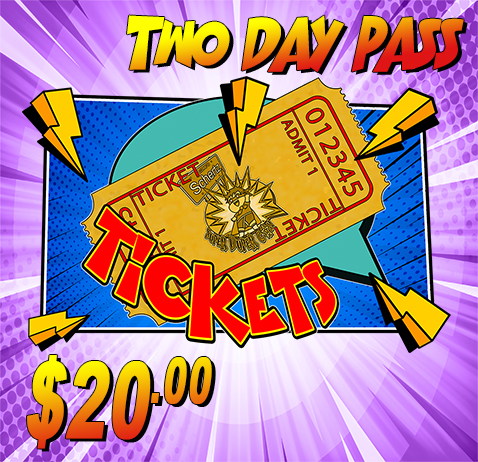 This two day pass allows entry into the show during regular show hours on both Saturday and Sunday. Attendee will receive 2 wristbands which must be worn at all times.
